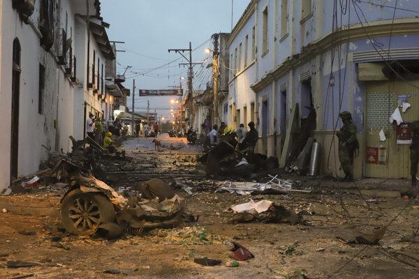 V meste Corinto v Kolumbii došlo k výbuchu.