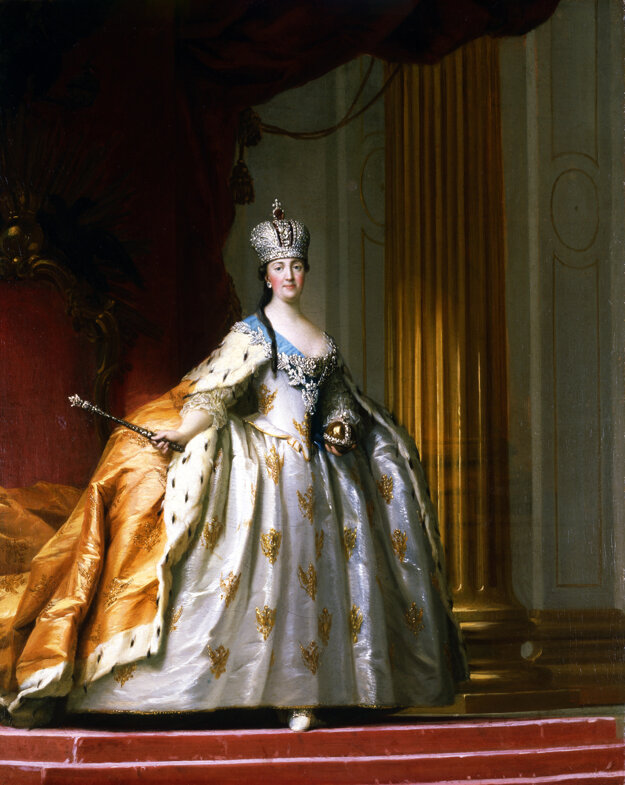 Katarína II. v korunovačnej róbe, portrét z roku 1778