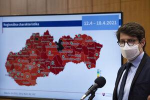 Šéf Inštitútu zdravotných analýz Matej Mišík a graf regionálnej charakteristiky covidautomatu.