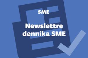 Newslettre denníka SME.