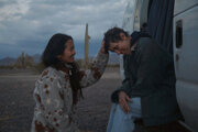 Režisérka Chloé Zhao a Frances McDormand.