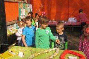 Výstava bola inštalovaná v areáli školy.