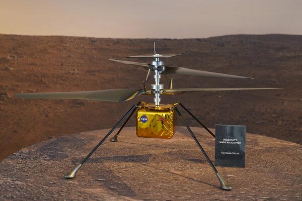 Model helikoptéry Ingenuity