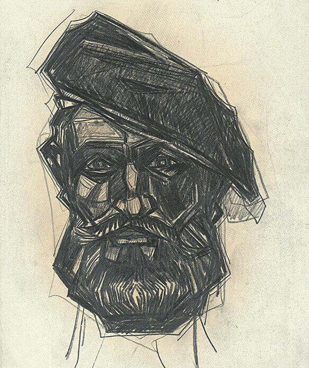 Ľudo Lukáč - autoportrét.