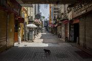 Prázdna ulica v indickej metropole Naí Dillí počas lockdownu.