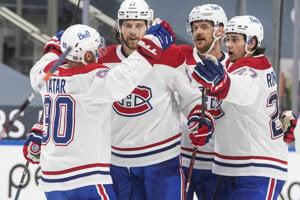 Radosť hráčov Montreal Canadiens.