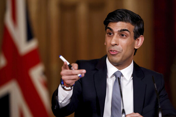 Britský minister financií Rishi Sunak.