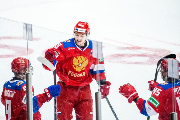 Radosť hráčov Ruska.
