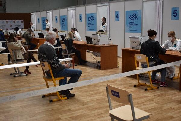 Očkovacie centrum v Michalovciach.