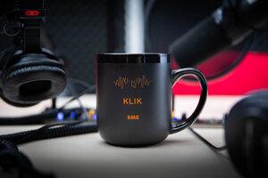 Keramický hrnček - podcast Klik