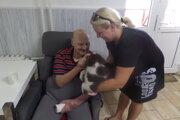 Obyvateľom domova sociálnych služieb spríjemňuje náročnú situáciu aj štvornohý liečiteľ Beny.