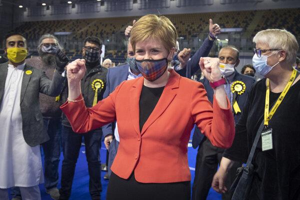 Líderka SNP a škótksa premiérka Nicola Sturgeonová.
