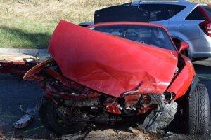 Dopravná nehoda na horskom priechode Brestová.