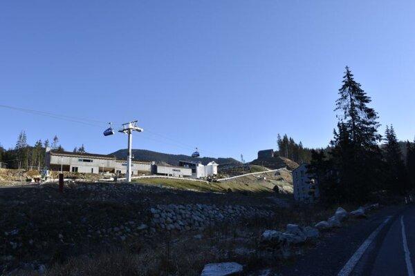 Výstavba v Demänovskej doline.