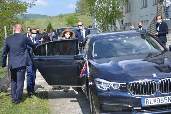 Prezidentka Zuzana Čaputová počas vlaňajšej návštevy vo Veľkom  Krtíši.