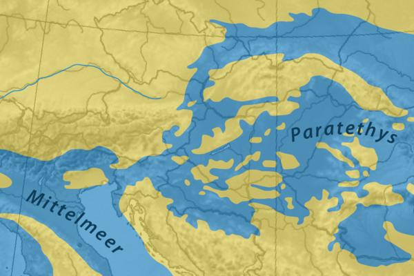 More Paratethys v období pred 17 až 13 miliónmi rokov.