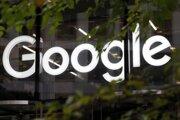 Logo Google v Londýne.