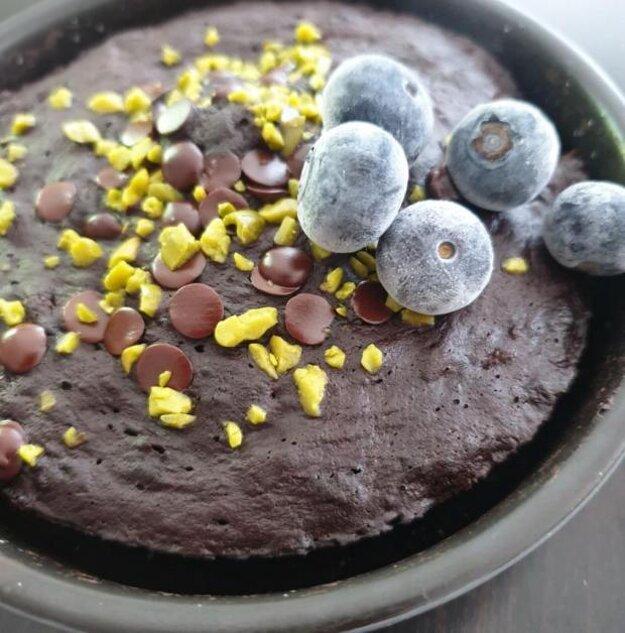 Trojminútový bezlepkový koláč bez cukru.