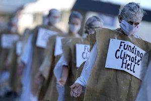 Protest klimatických aktivistov.