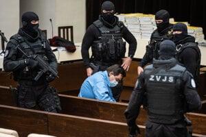 Marian Kočner počas pojednávania na Najvyššom súde.