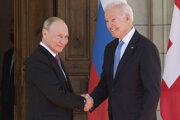 Prezident Ruska Vladimir Putin a prezident USA Joe Biden.