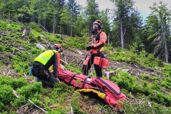 Horskí záchranári v akcii na Martinských holiach.