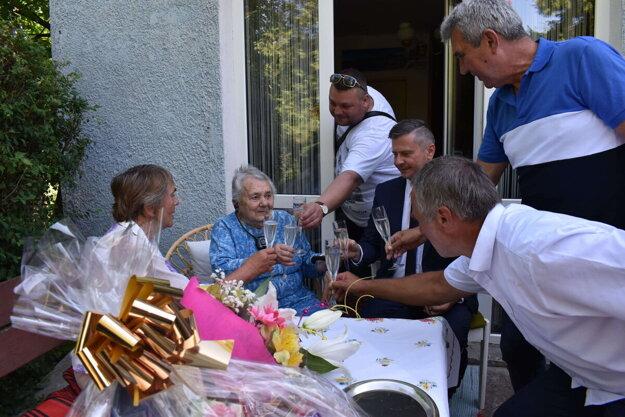 Mária Poláková z Humenného oslávila 99 rokov.