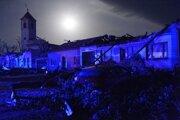 Následky búrky v Moravskej Novej Vsi.