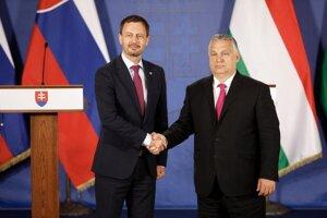 Premiér Eduard Heger a maďarský predseda vlády Viktor Orbán.
