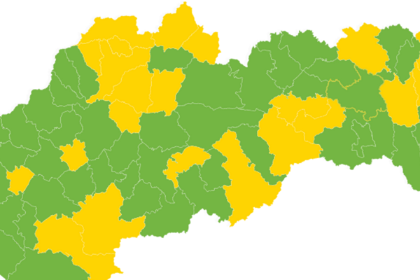 Rozdelenie okresov podľa covid automatu platného od 5. júla.