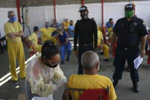 Očkovanie proti covidu v Caracase.