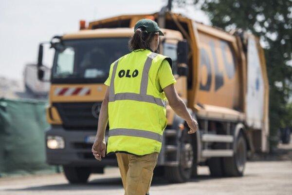 Pracovník Odvozu a likvidácií odpadu.