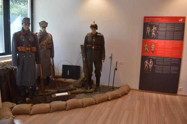 Expozícia z 1. svetovej vojny v Medzilaborciach.