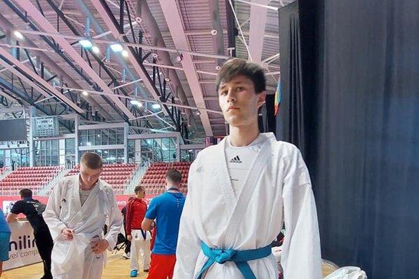 Jakub Labuda počas Svetového pohára mládeže v Poreči.