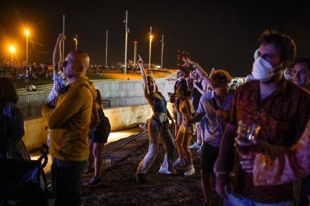 Snímka z hudobného festivalu Cruilla music v Barcelone, ktorý sa konal 9. júla.