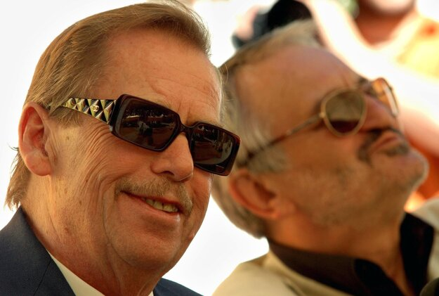 S Václavom Havlom v roku 2005.