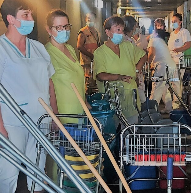 Upratovačky košickej nemocnice.