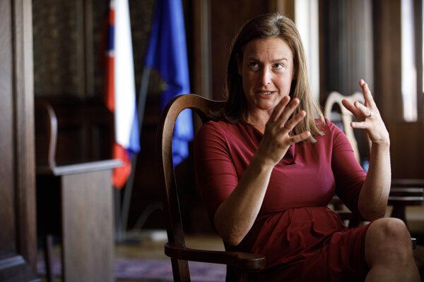 Ministerka kultúry Natália Milanová počas rozhovoru pre agentúru SITA.