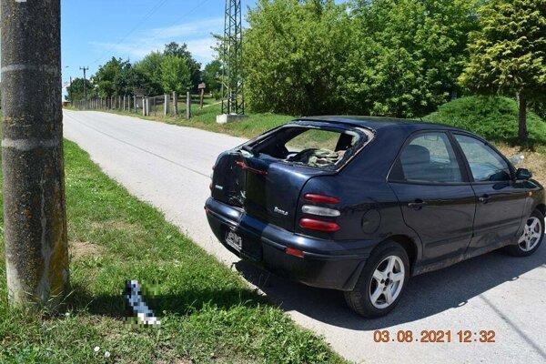 Opitý vodič nacúval do stĺpa.