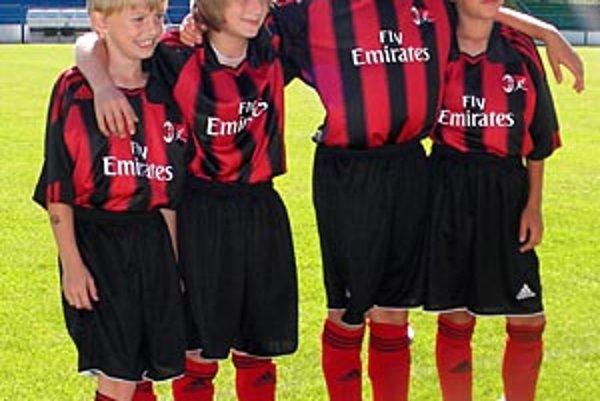 Talentovaní futbalisti strávili tri dni s odborníkmi z AC Miláno.
