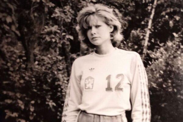 Erika Lacková má na svojom konte 21 štartov v reprezentácii Československa.