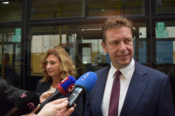 Primátorka mesta Prešov Andrea Turčanová (KDH) a minister dopravy Andrej Doležal (nominant Sme rodina).