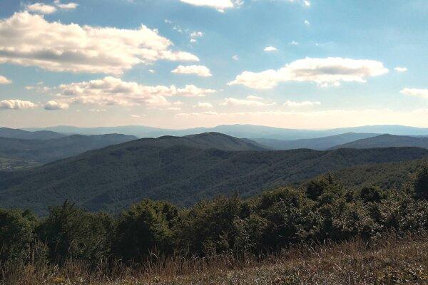 Pohľad na hrebeň Veľkého Bukovca.