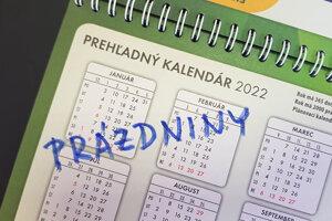 Prázdniny v školskom roku 2021/2022.