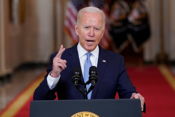 Americký prezident Joe Biden v prejave k ukončeniu vojny v Afganistane.
