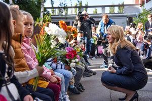 Prezidentka Zuzana Čaputová otvorila školský rok na Základnej škole Dubová v Bratislave.