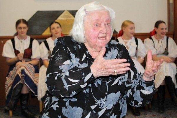 Speváčka a zberateľka ľudových piesní Lýdia Fajtová