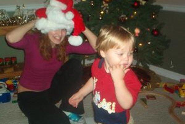 V Harissburgu - Lea s 1,5-ročným Aidanom Ruzanskym.
