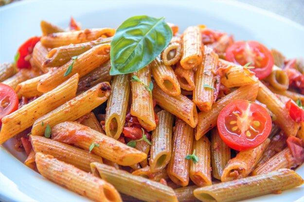 Hubovo-paradajkové cestoviny v krémovej omáčke. K receptu sa dostanete po kliknutí na obrázok.