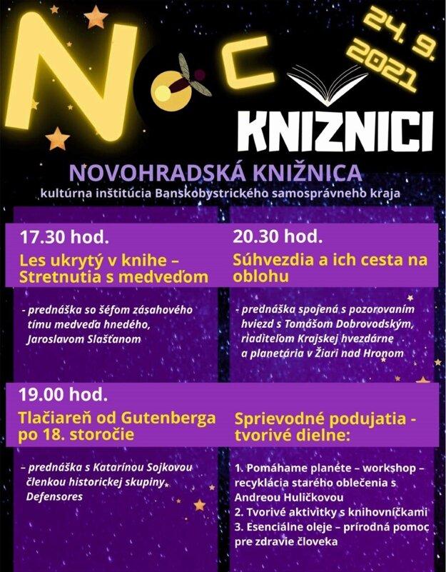 Program Noci v Knižnici v Lučenci